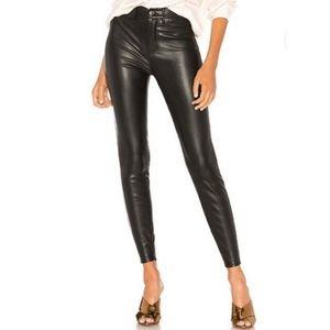 Free People Faux Leather High-Rise Skinny Pants